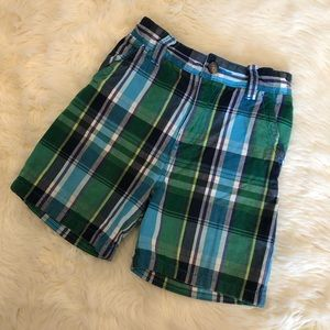 Children's Place Baby Boys Plaid Flat Front Shorts